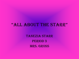 """ALL ABOUT THE STARR"""
