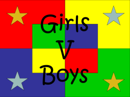 Ratio - Boys v Girls..