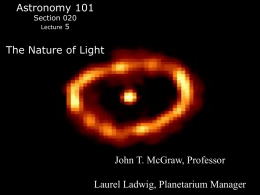 The Nature of Light - Physics and Astronomy