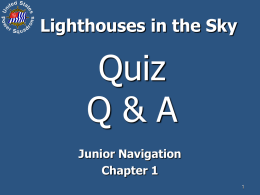 Lighthouse in the Sky Quiz Q & A