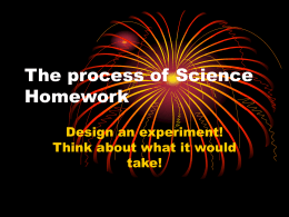 5.1-The process of Science - Homework