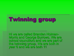 Twinning group - Priory Fields School, Dover