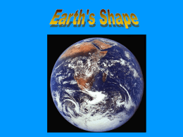 Earth`s Shape