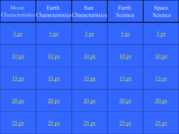 Jeopardy Game Earth Space Science