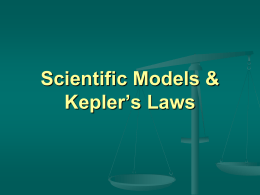 Kepler`s Laws Powerpoint
