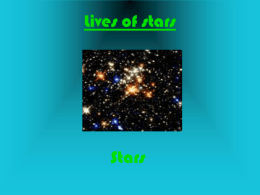 Lives of stars - Laconia School District