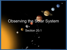 Observing the Solar System