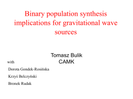 Population synthesis view of gravitational waves - Astro-PF
