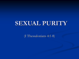 sexual purity - Crestwoodchurchofchrist.org