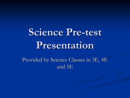 Science Pre-test Presentation