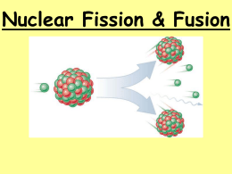 Fusion & Fission PPT