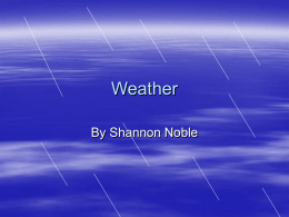 Weather - Courseweb