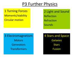 P3 Further Physics - The Thomas Cowley High School