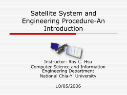 Satellite Command And Data Handling Subsystem