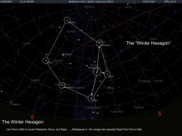 The Winter Hexagon