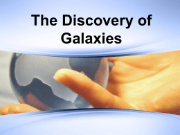 The Discovery of Galaxies