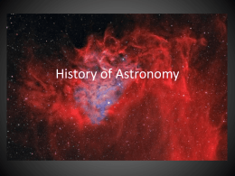 File history of astronomy