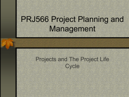 PRJ566 Project Planning and Management