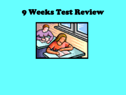 first nine weeks review ppt 2015
