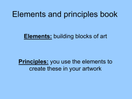 Elements and principles book