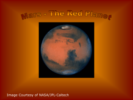Mars - The Red Planet - Challenger Learning Center