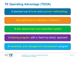 Tyco Electronics Operating Advantage Introduction