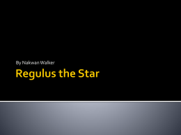 Regulus the Star njw