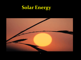 Solar Energy - SharpSchool