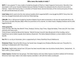 Who owns the media in India ? NDTV