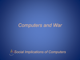 Computers and War