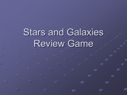 Stars and Galaxies Review Game