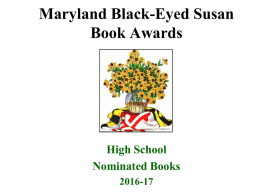 Black Eyed Susan Book Awards - Sparrows Point High School