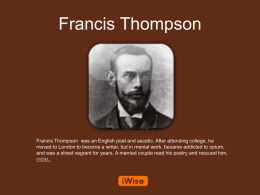 Francis Thompson Powerpoint