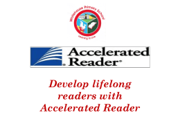 Accelerated Reading - Whitehouse Primary School