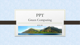 Greencomputingx - University of Hawaii