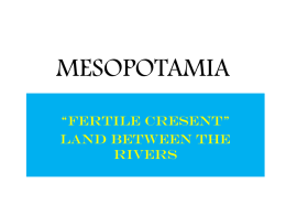 MESOPOTAMIA - Central Bears Geography and World History