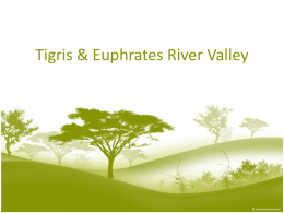 Tigris & Euphrates River Valley