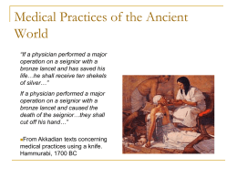 Medical Practices of the Ancient World
