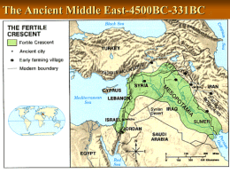 The Ancient Middle East-4500BC