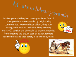Moats in Mesopotamia