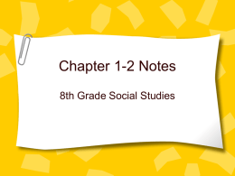Chapter 1-2 Notes
