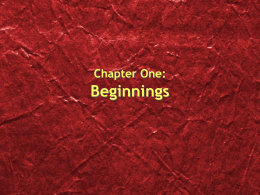 Chapter One: The Beginnings of Civilization
