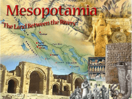 Mesopotamia, the First Civilization