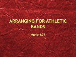 ARRANGING FOR ATHLETIC BANDS