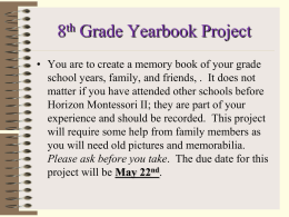 8th Grade Yearbook Project