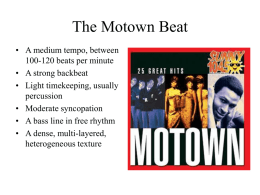 The Motown Beat - U of L Class Index