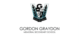 Laptop Program - Gordon Graydon Memorial Secondary