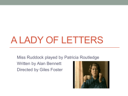 A Lady of Letters