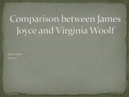 Comparison between James Joyce and Virginia Woolf