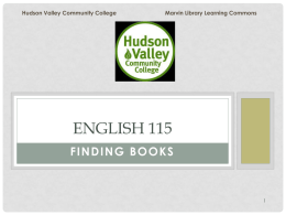 Marvin Library Web Page - Hudson Valley Community College